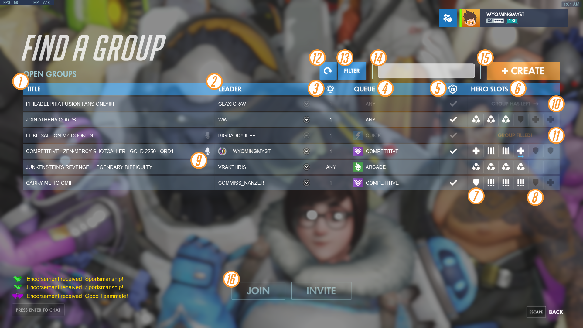 guide how to use the looking for group system general discussion