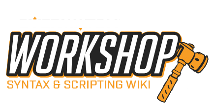 WIKI: Workshop Syntax & Script Database - Workshop