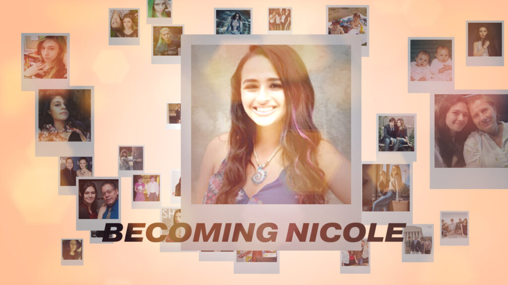 """""""Becoming Nicole"""" Film Title Cover"""